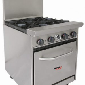 Gas Burner with Oven Below